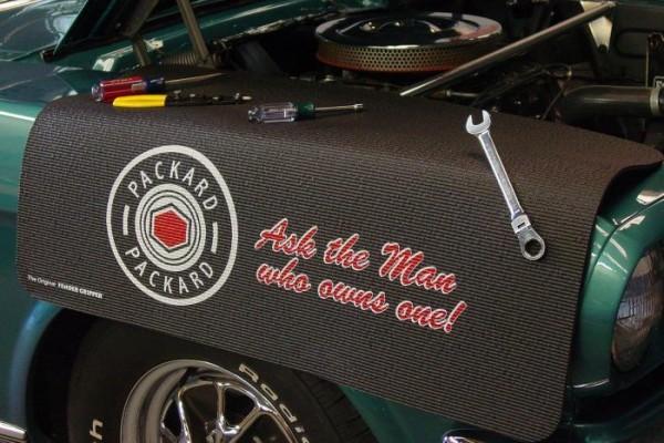 """Kotflügelschoner mit """"Packard"""" Logo, Stück"""