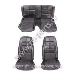 Sitzbezugsatz Deluxe, 70 Fastback, Schwarz (Black)