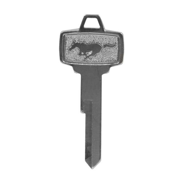 Schlüsselrohling mit Pony Logo für Tür- & Zündschloß, 65-66