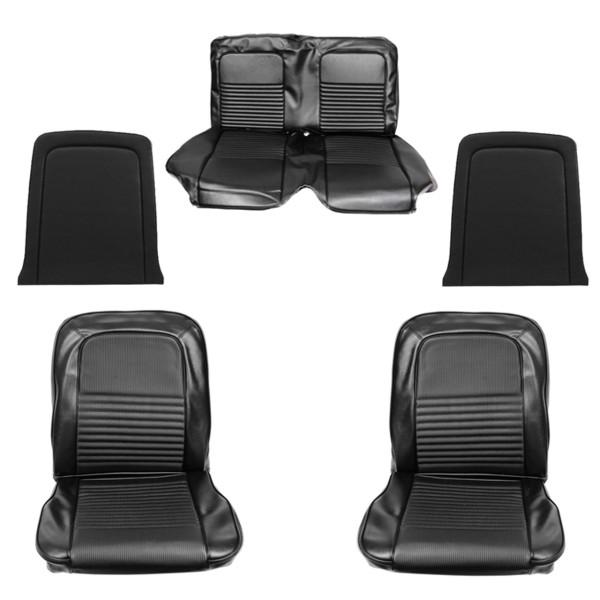Sitzbezugsatz Deluxe, 67 Cabriolet, Schwarz (Black)