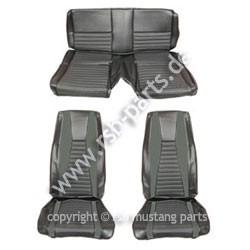 Sitzbezugsatz MACH I, 71-73 Fastback, Schwarz (Black)