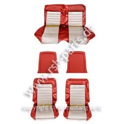 Sitzbezugsatz Pony, 65 Fastback, Rot/Weiß (Red/White)