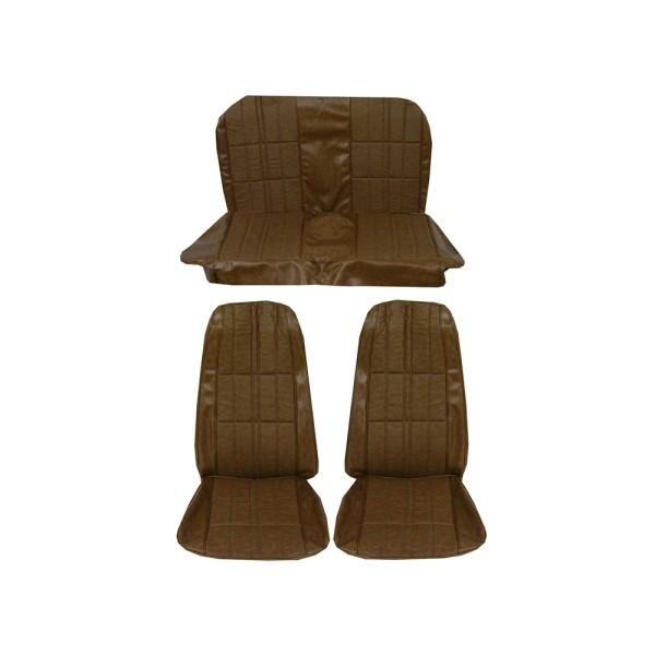 Sitzbezugsatz Deluxe, 71-73 Fastback, Ingwerrot (Ginger)