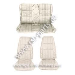Sitzbezugsatz Deluxe, 71-73 Cabriolet, Weiß (White)