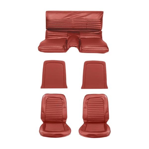 Sitzbezugsatz Standard, 65 Fastback, Rot (Bright Red)