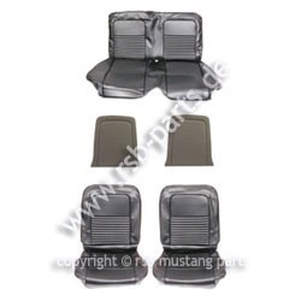 Sitzbezugsatz Deluxe, 67 Coupe, Schwarz (Black)