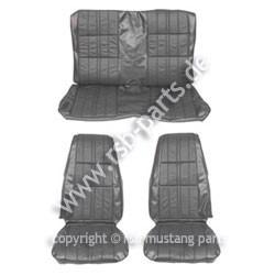 Sitzbezugsatz Deluxe, 71-73 Coupe, Schwarz (Black)