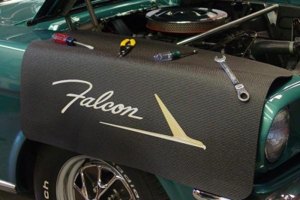 Kotflügelschoner mit - Falcon - Logo, Stück