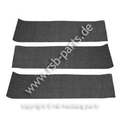 Teppich hinten 69-70 Fastback schwarz