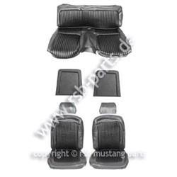 Sitzbezugsatz Standard, 69 Fastback, Schwarz (Black)