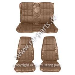 Sitzbezugsatz Deluxe, 71-73 Cabriolet, Ingwerrot (Ginger)