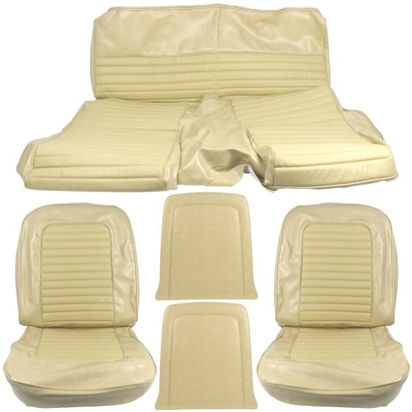 Sitzbezugsatz Standard, 66 Fastback, Beige (Parchment)