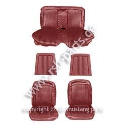 Sitzbezugsatz Standard, 68 Coupe, Rotbraun (Maroon)