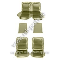 Sitzbezugsatz Standard, 67 Cabriolet, Efeu-Gold (Ivy Gold)