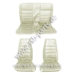 Sitzbezugsatz Standard, 71-73 Fastback, Weiß (White)