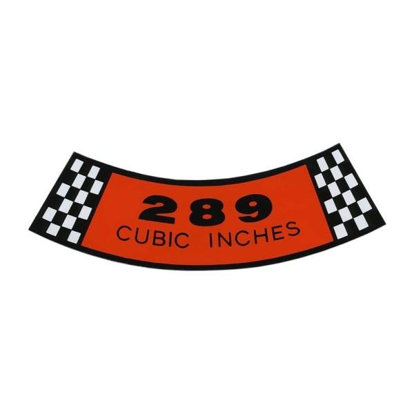Luftfilteraufkleber 289 65-66