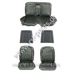 Sitzbezugsatz Deluxe, 68 Cabriolet, Schwarz (Black)