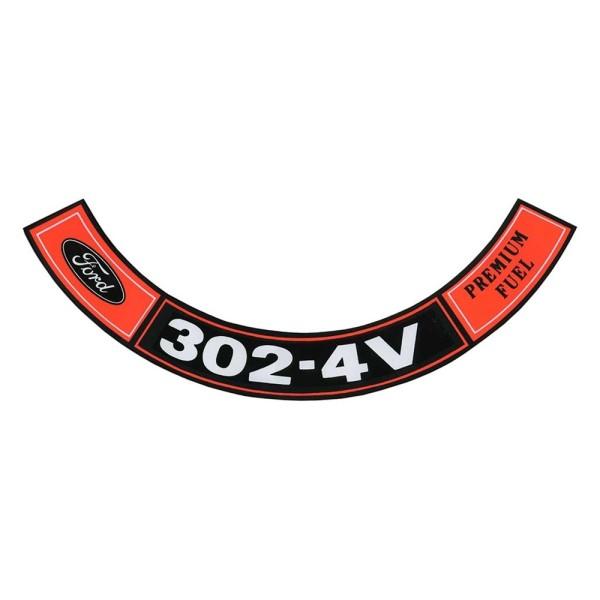 Luftfilteraufkleber 302 4V 70-71