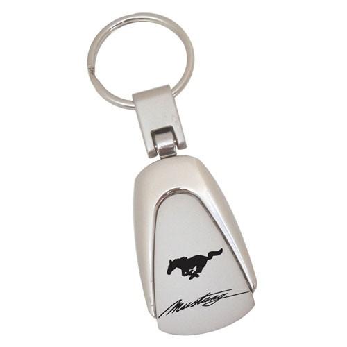 Schlüsselanhänger Metall Mustang Logo mit Schriftzug
