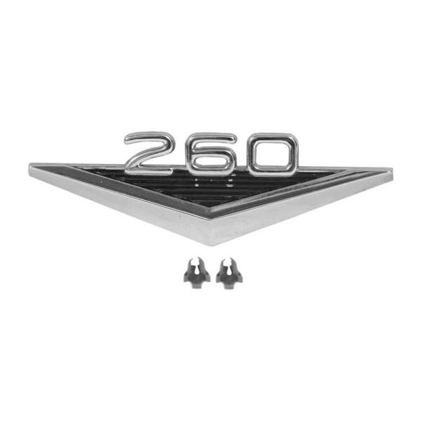 """Kotflügel-Emblem """"260"""" V-Form, 64-1/2"""