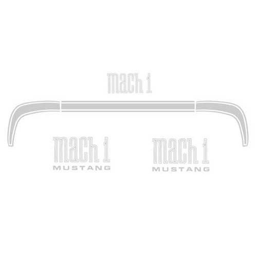 Zierstreifen, 71-72, MachI, Kofferdeckel & MachI-Embleme, Silber