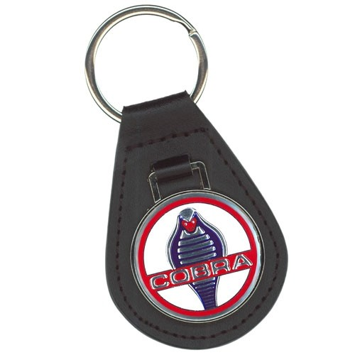 Schlüsselanhänger Cobra Leder, mit Classic Cobra Emblem
