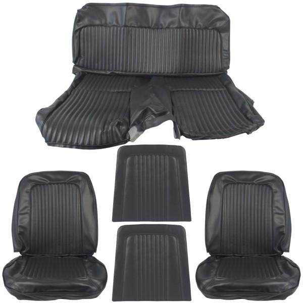 Sitzbezugsatz Standard, 68 Fastback, Schwarz (Black)