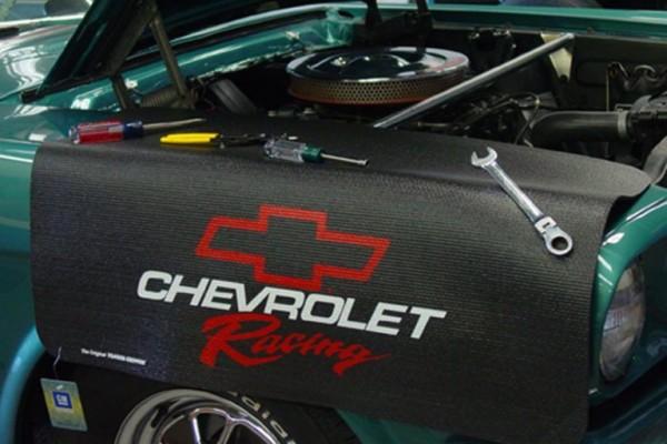 Kotflügelschoner mit - Chevrolet Racing - Logo, Stück