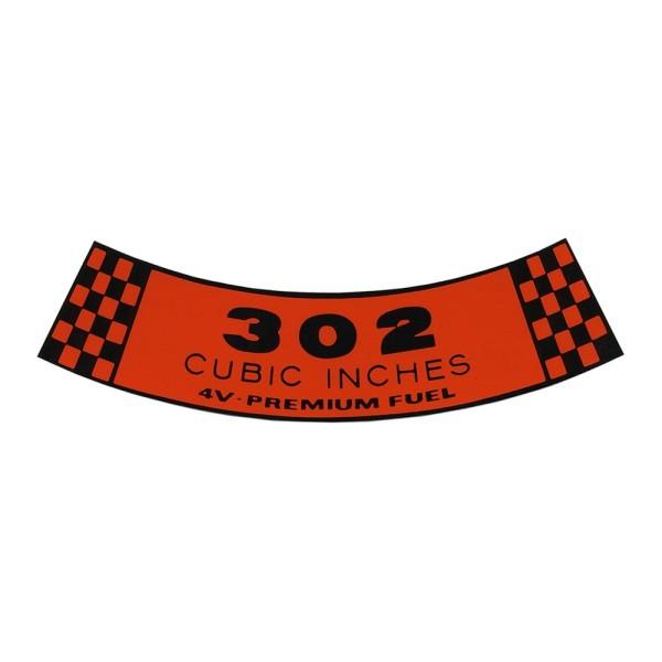 Luftfilteraufkleber 302 4V 68-69
