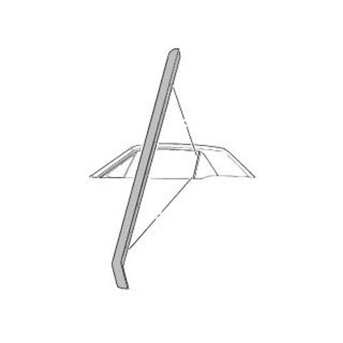 Dichtung am hinteren Dreiecksfenster, LH, 65-68, Cabriolet