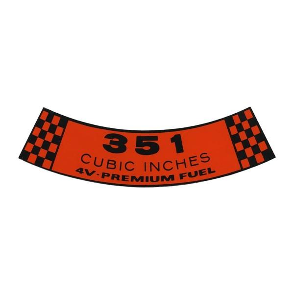 Luftfilteraufkleber 351 4V 69