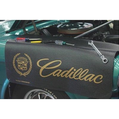 Kotflügelschoner Extra Long mit - Cadillac - Logo, Stück