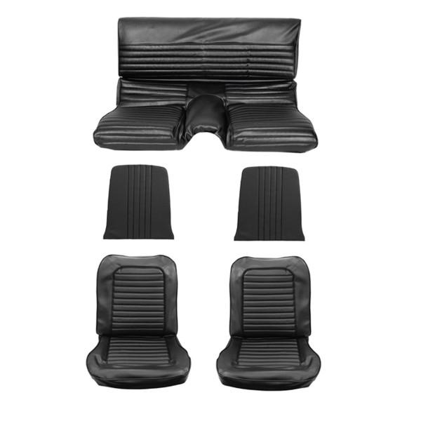 Sitzbezugsatz Standard, 65 Fastback, Schwarz (Black)