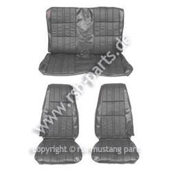 Sitzbezugsatz Deluxe, 71-73 Fastback, Schwarz (Black)