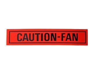 Datenaufkleber Caution Fan 68-73