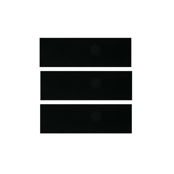 Teppich hinten 65-68 Fastback schwarz