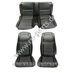 Sitzbezugsatz MACH I, 69 Fastback, Schwarz (Black)