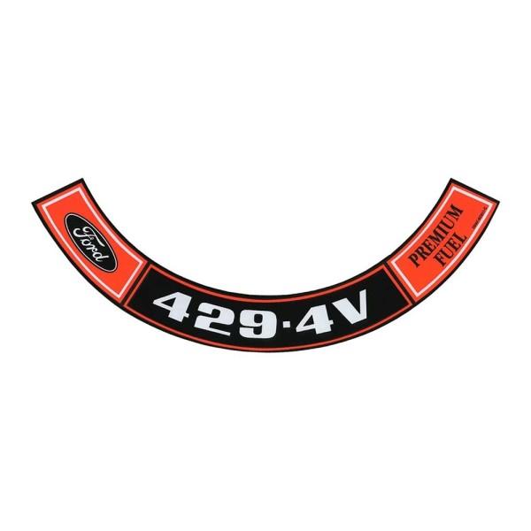 Luftfilteraufkleber 429 4V 71
