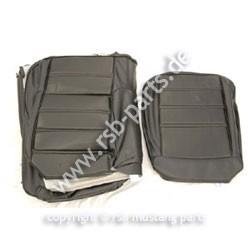 Sitzbezugsatz Standard, 71-73 Fastback, Schwarz (Black)