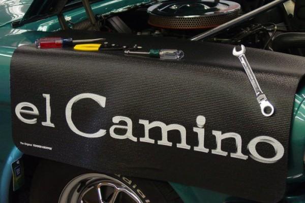 Kotflügelschoner mit - El Camino - Logo, Stück