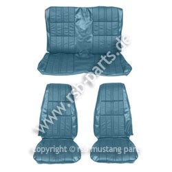 Sitzbezugsatz Deluxe, 71-73 Cabriolet, Blau (Blue)