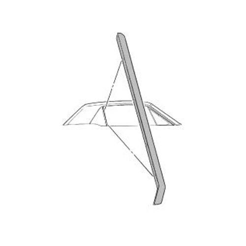 Dichtung am hinteren Dreiecksfenster, RH, 65-68, Coupe