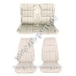 Sitzbezugsatz Deluxe, 71-73 Coupe, Weiß (White)