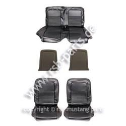 Sitzbezugsatz Standard, 67 Coupe, Schwarz (Black)