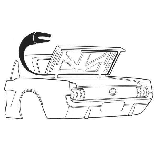 Dichtung für Kofferdeckel, 65-70, Coupe & Cabriolet