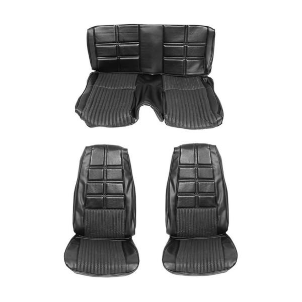 Sitzbezugsatz Deluxe, 70 Cabriolet, Schwarz (Black)