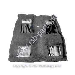 Teppich 69 Cabrio MachI schwarz mit 4 schwarzen Einsätzen