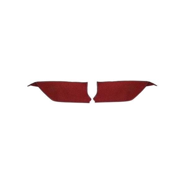 Teppichbezug Fußraum Cabrio 65-68 rot