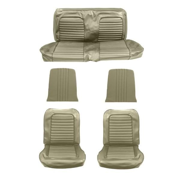Sitzbezugsatz Standard, 65 Cabriolet, Efeu-Gold (Ivy Gold)