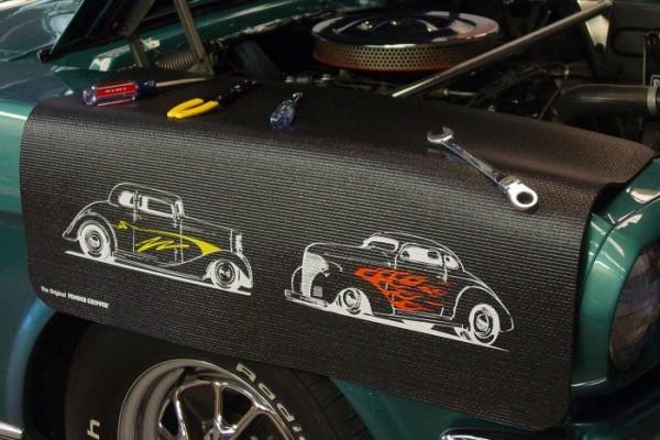 Kotflügelschoner mit - Chevy Street Rods - Logo, Stück